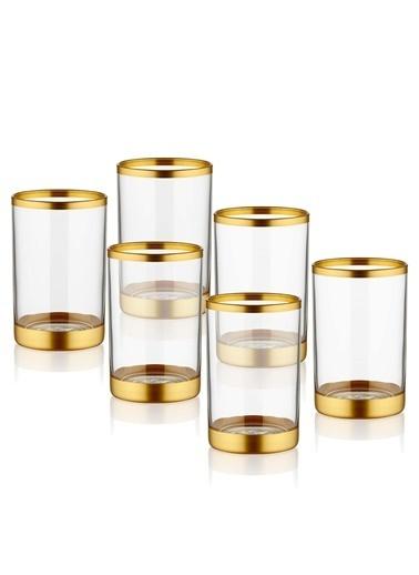 The Mia Glam Kahve Yanı Su Bardağı - Gold Altın